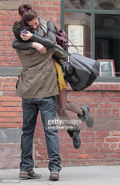 Ashley Greene and Chris Riggi are seen on the movie set of 'Americana' on March 24 2012 in New York City