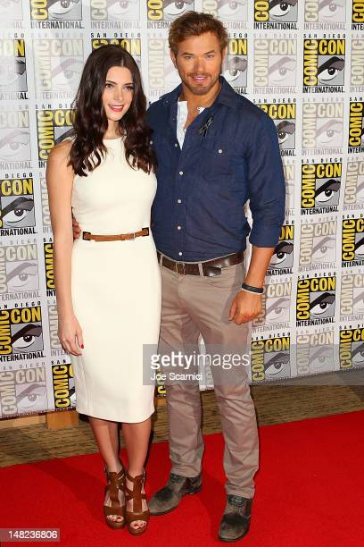 Ashley Greene and Kellan Lutz arrive at the 'Twilight' press line at ComicCon International 2012 Day 1 at San Diego Convention Center on July 12 2012...