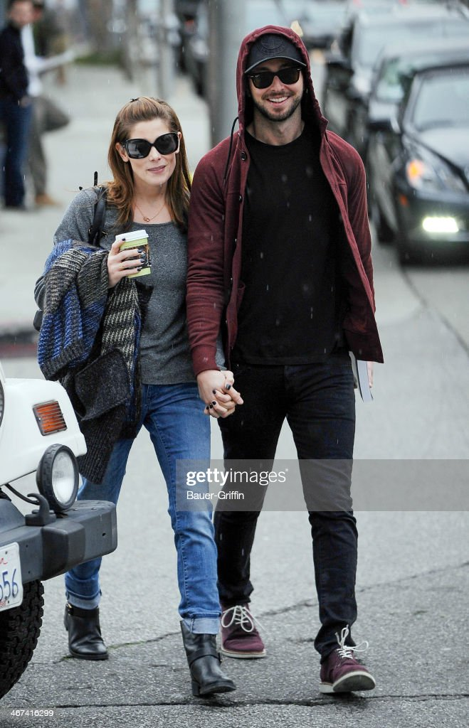 Ashley Greene and Paul Khoury are seen on February 06 2014 in Los Angeles California