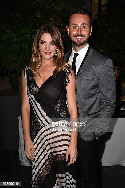 Ashley Greene and Paul Khoury attend 'The Starry Late Party' Hosted By L'Uomo Vogue and Lamborghini during the 73rd Venice Film Festival on September...
