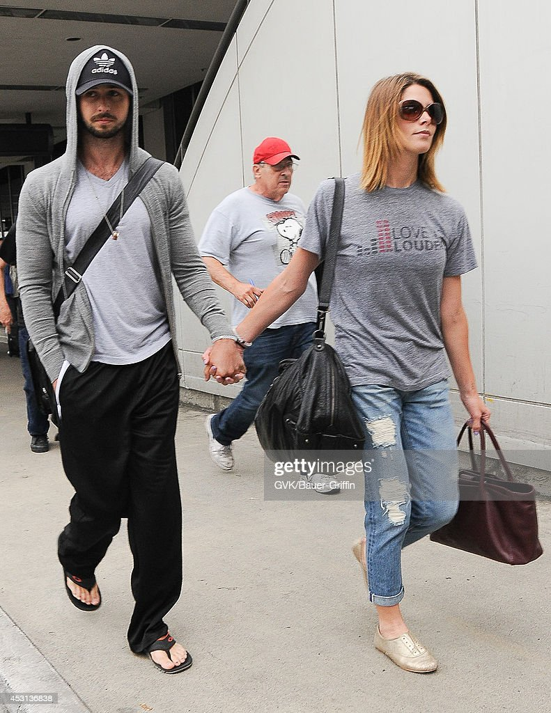 Ashley Greene and Paul Khoury seen at LAX on August 03, 2014 in Los Angeles, California.