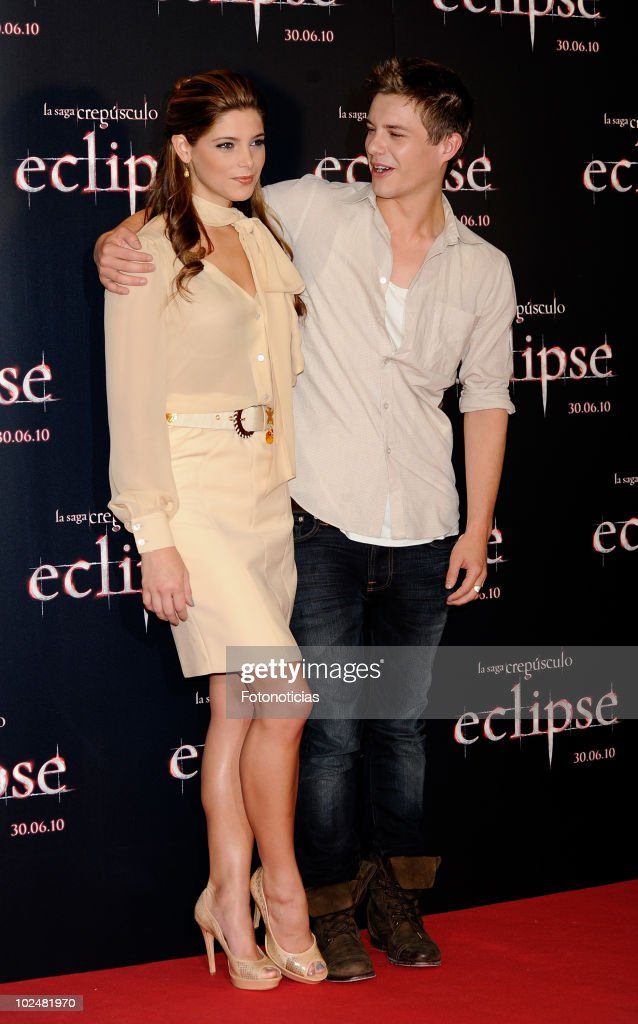 Ashley Greene and Xavier Samuel attend a photocall for 'The Twilight Saga Eclipse' at the Castellana Intercontinental Hotel on June 28 2010 in Madrid...