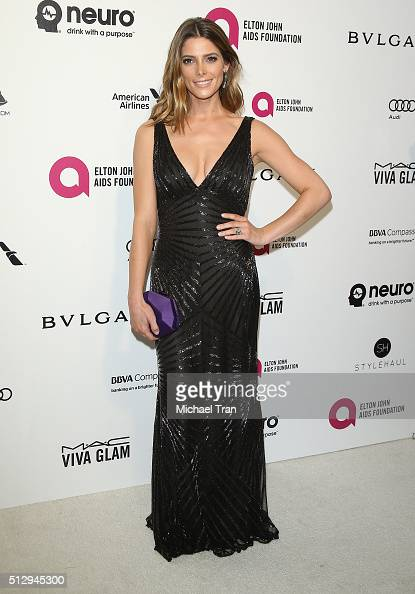 Ashley Greene arrives at the 24th Annual Elton John AIDS Foundation's Oscar viewing party held at West Hollywood Park on February 28 2016 in West...