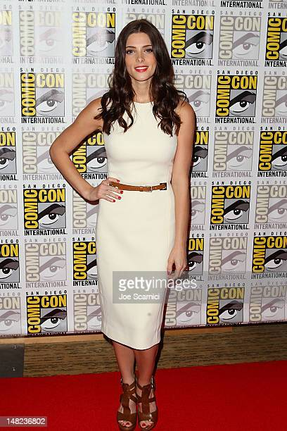 Ashley Greene arrives at the 'Twilight' press line at ComicCon International 2012 Day 1 at San Diego Convention Center on July 12 2012 in San Diego...