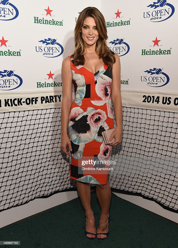 <a gi-track='captionPersonalityLinkClicked' href=/galleries/search?phrase=Ashley+Greene&family=editorial&specificpeople=781552 ng-click='$event.stopPropagation()'>Ashley Greene</a> attends the 2014 Heineken US Open Kick Off Party at PH-D Rooftop Lounge at Dream Downtown on August 21, 2014 in New York City.