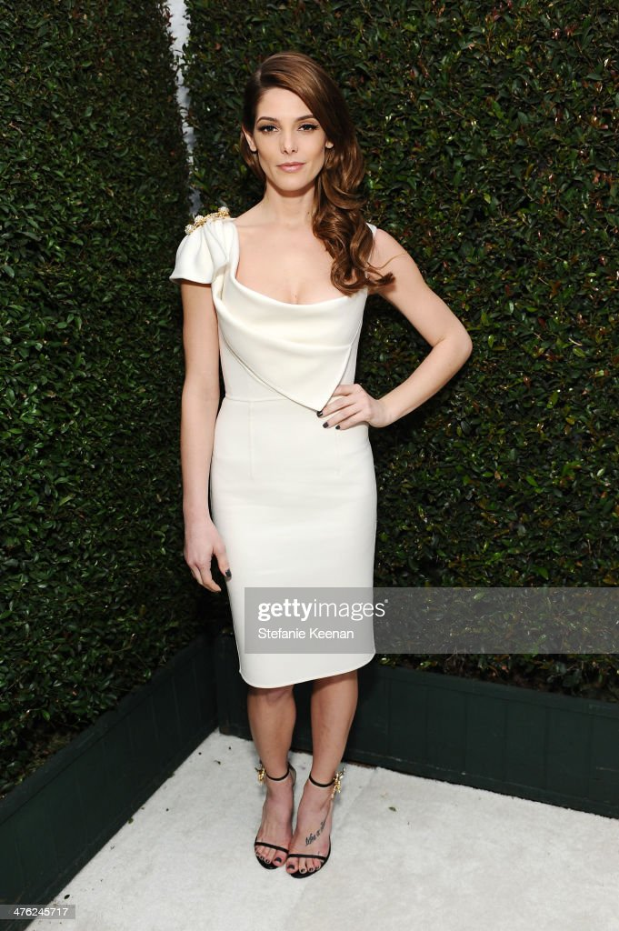 Ashley Greene attends the 22nd Annual Elton John AIDS Foundation Academy Awards viewing party with Chopard at the City of West Hollywood Park on...