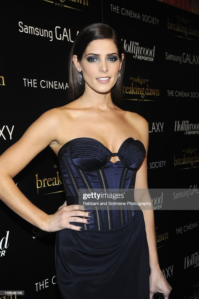 Ashley Greene attends the Cinema Society with The Hollywood Reporter and Samsung Galaxy screening of 'The Twilight Saga: Breaking Dawn Part 2' at the Landmark Sunshine Cinema on November 15, 2012 in New York City.