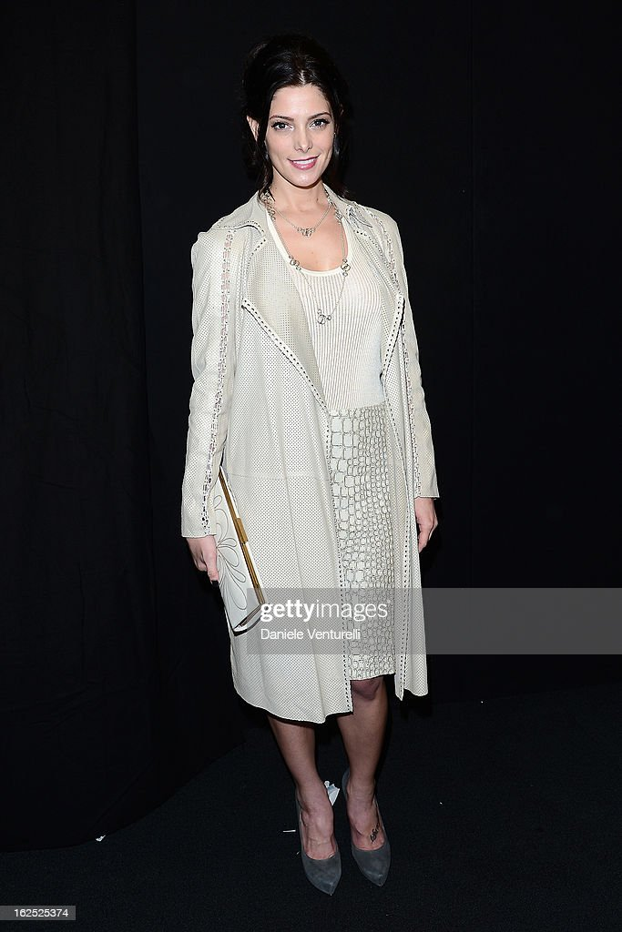 Ashley Greene attends the Salvatore Ferragamo fashion show as part of Milan Fashion Week Womenswear Fall/Winter 2013/14 on February 24, 2013 in Milan, Italy.