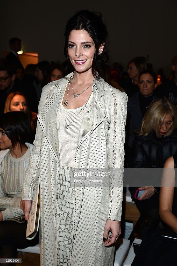 Ashley Greene attends the Salvatore Ferragamo fashion show as part of Milan Fashion Week Womenswear Fall/Winter 2013/14 on February 24, 2013 in Milan, Italy.