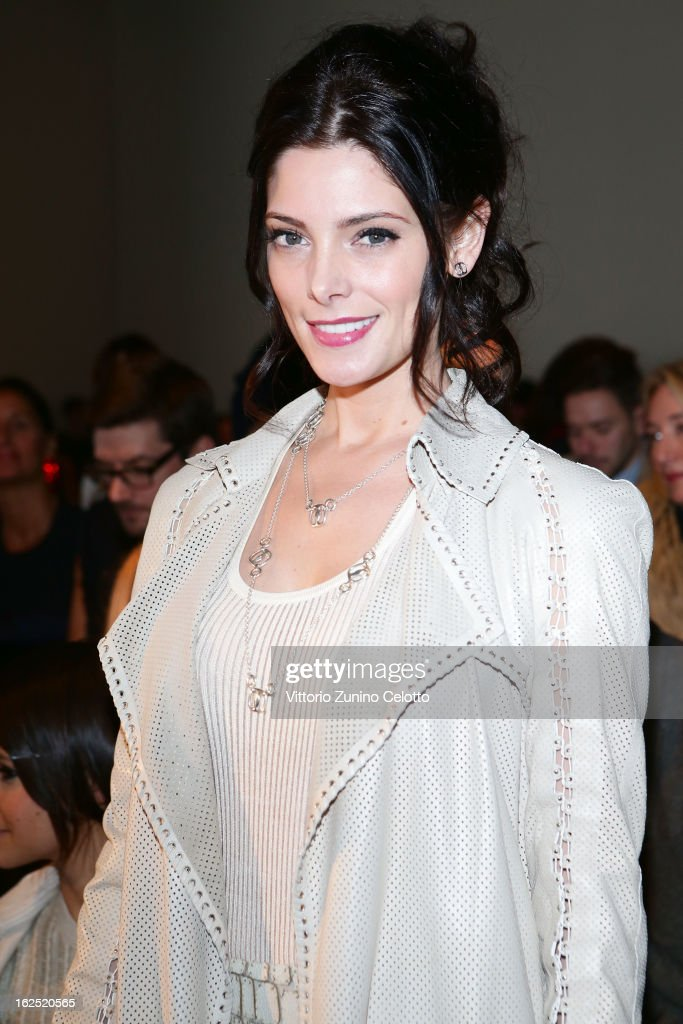 Ashley Greene attends the Salvatore Ferragamo fashion show during Milan Fashion Week Womenswear Fall/Winter 2013/14 on February 24, 2013 in Milan, Italy.