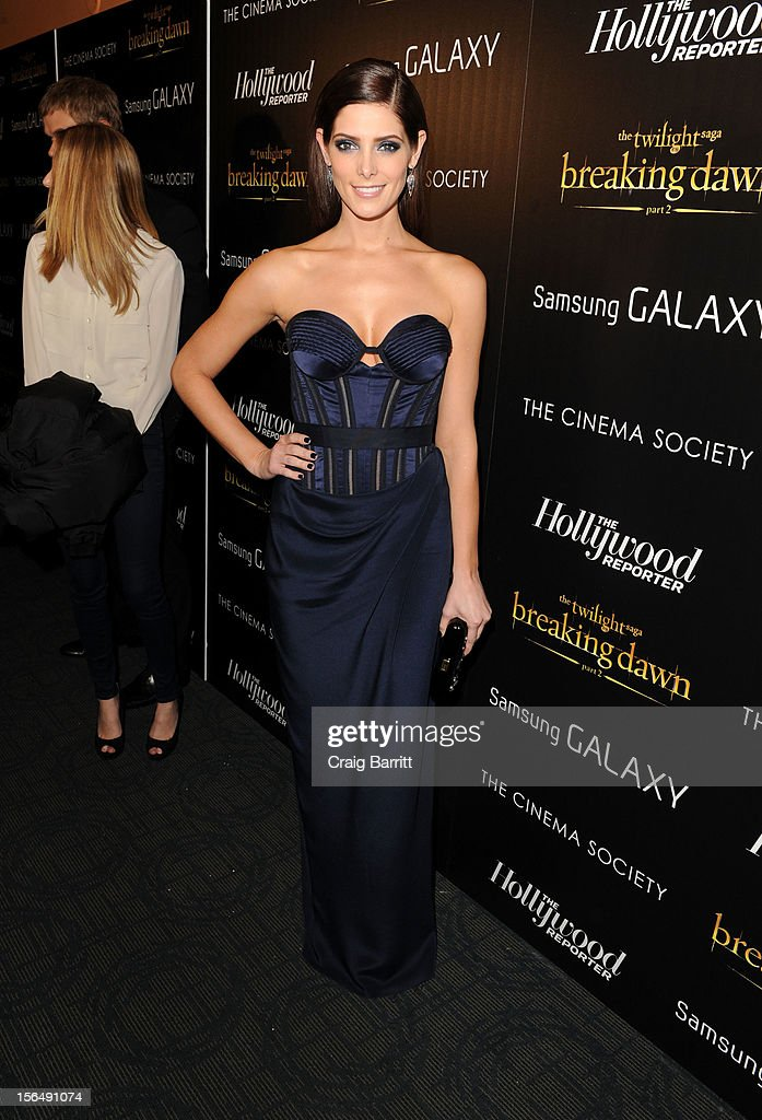 Ashley Greene attends the screening Of 'The Twilight Saga: Breaking Dawn Part 2' hosted by The Cinema Society with The Hollywood Reporter & Samsung Galaxy on November 15, 2012 in New York City.