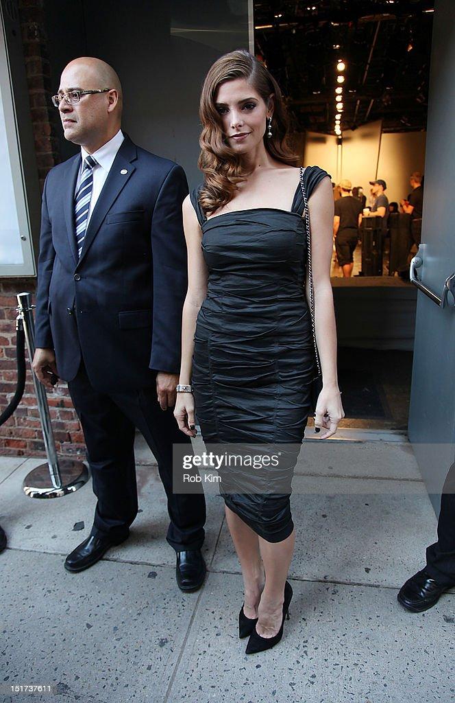 Ashley Greene departs Donna Karan's fashion show on September 10, 2012 in New York City.