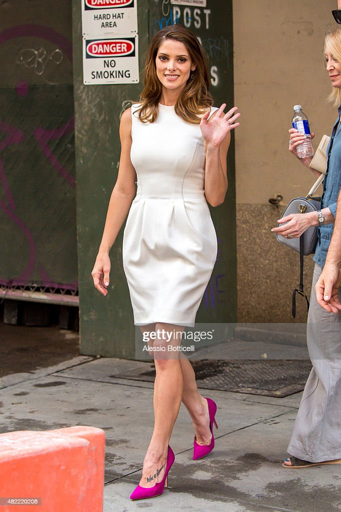 Ashley Greene is seen in Midtown on July 28 2015 in New York City