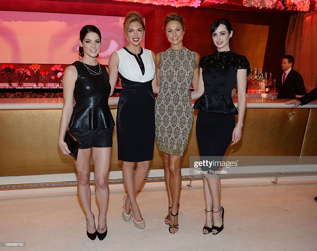 Ashley Greene, Kate Upton, Stacy Keibler and Krysten Ritter attend Andrea's grand opening of Andrea's at Wynn Las Vegas on January 16, 2013 in Las Vegas, Nevada.