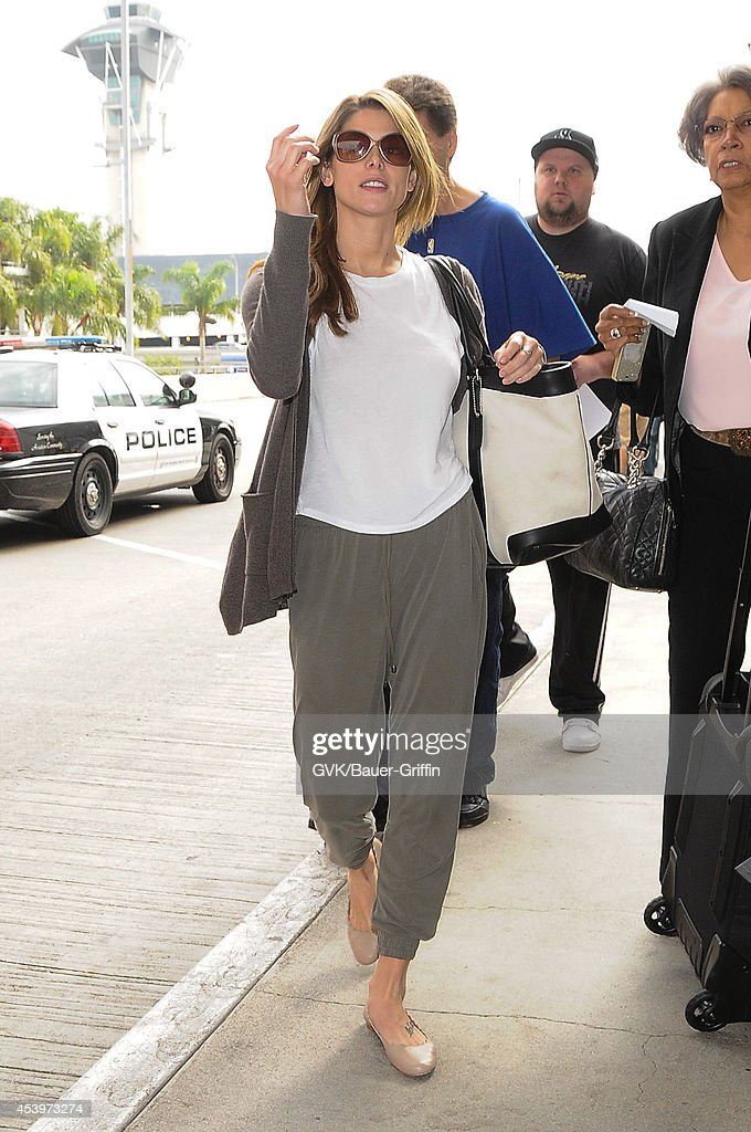 Ashley Greene seen at LAX on August 22, 2014 in Los Angeles, California.