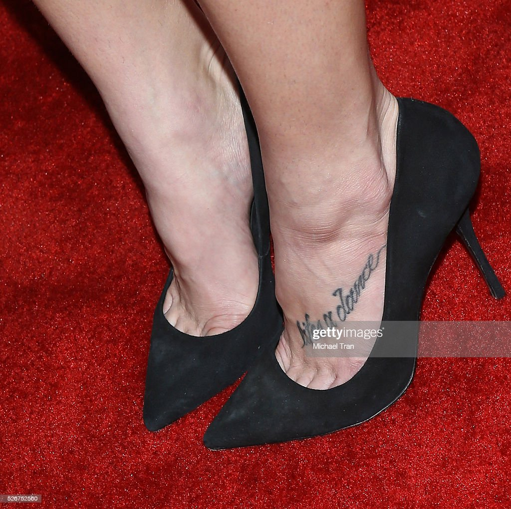 Ashley Greene, shoe detail, arrives at the 2016 iHeartCountry Festival held at The Frank Erwin Center on April 30, 2016 in Austin, Texas.
