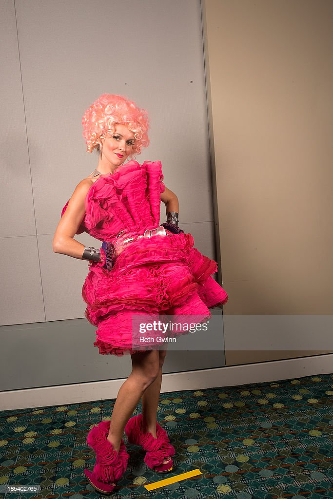 Ashley Hackett as Effie Trinket from The Hunger Games attends Nashville Comic Con 2013 at Music City Center on October 19, 2013 in Nashville, Tennessee.