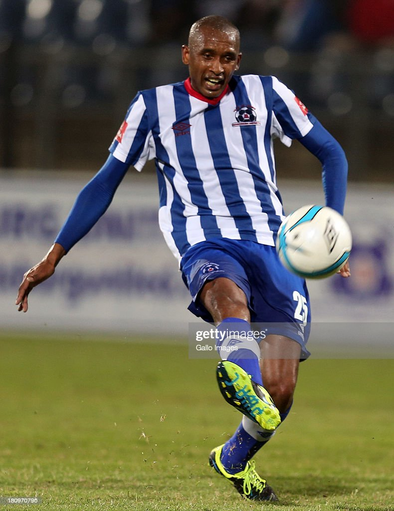 Ashley Hartog of Maritzburg United during the Absa Premiership match between Maritzburg United and MP Black Aces at Harry Gwala Stadium on September 18, 2013 in Durban, South Africa.