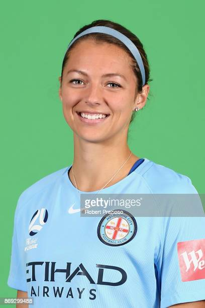 Ashley Hatch poses during the Melbourne City WLeague headshots session on November 2 2017 in Melbourne Australia