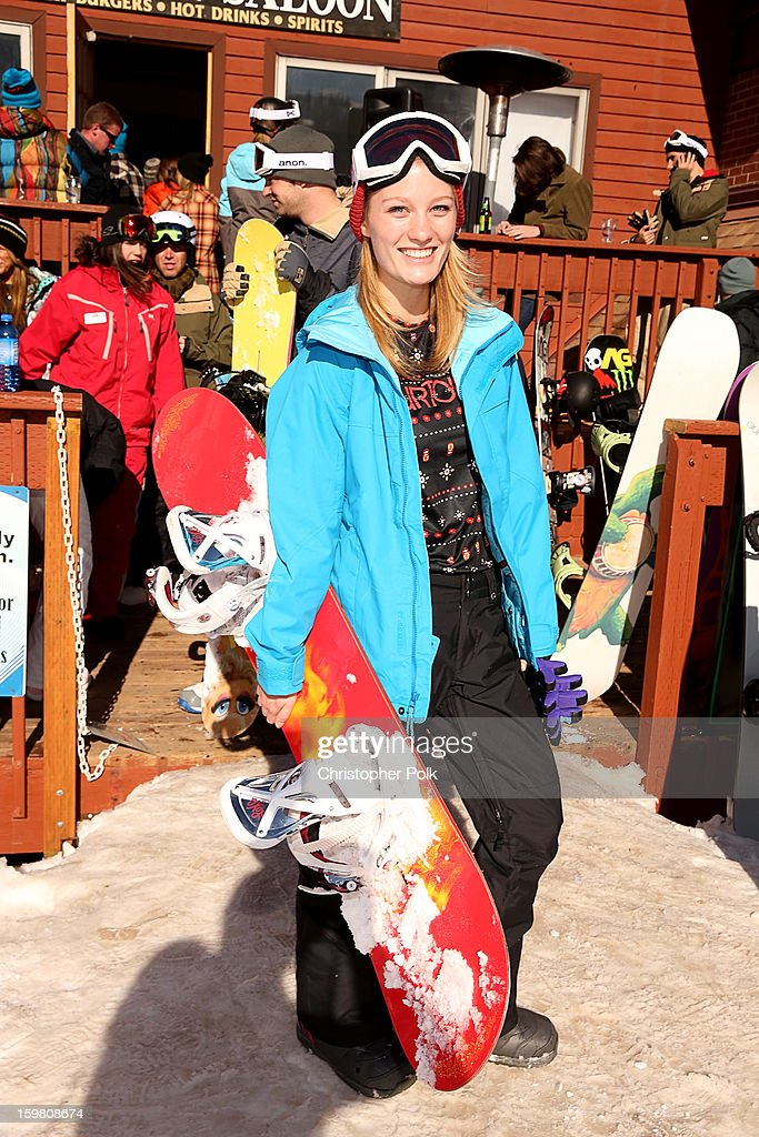 Ashley Hinshaw attends Burton Learn To Ride - Day 2 on January 20, 2013 in Park City, Utah.