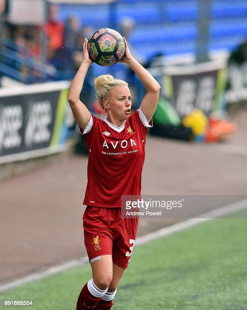 Ashley Hodson of Liverpool Ladies during a WSL 1 match between Liverpool Ladies and Manchester City Women at Select Security Stadium on June 3 2017...