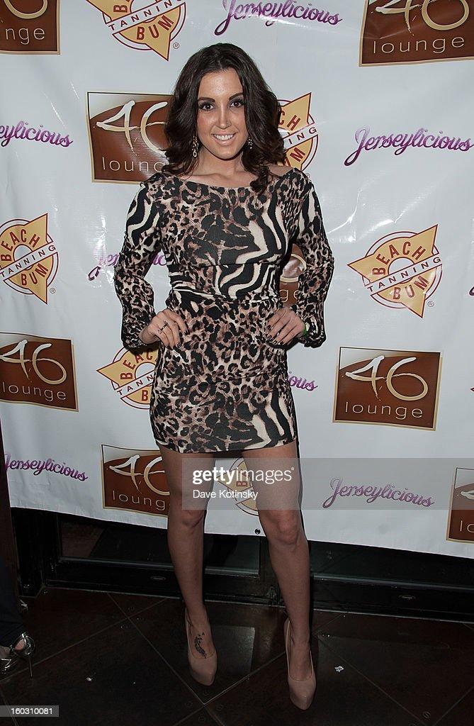 Ashley Holmes Laurita attends 'Jerseylicious' Season 5 Premiere Celebration at 46 Lounge on January 28, 2013 in Totowa City.