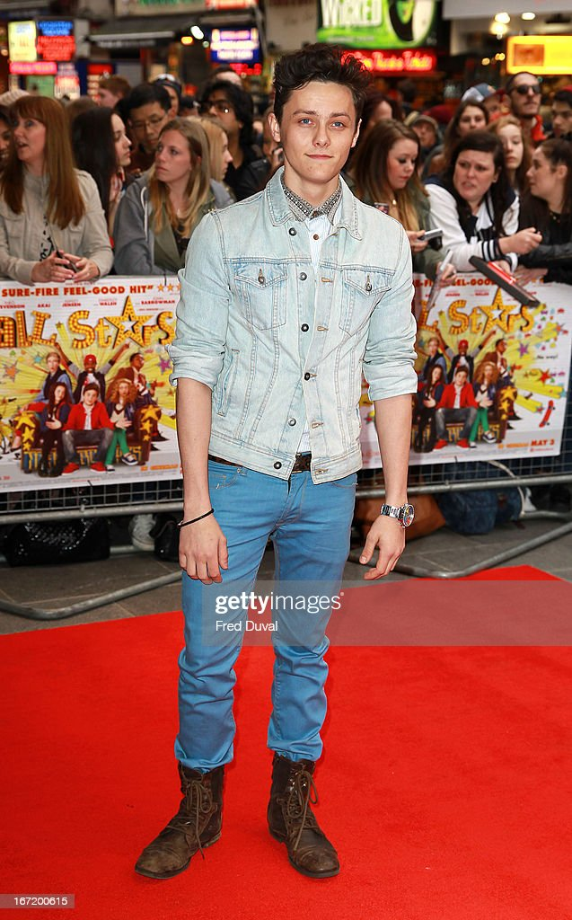 Ashley Horne attends the UK Premiere of 'All Stars' at Vue West End on April 22, 2013 in London, England.