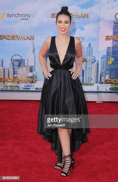 Ashley Iaconetti arrives at the Los Angeles Premiere 'SpiderMan Homecoming' at TCL Chinese Theatre on June 28 2017 in Hollywood California
