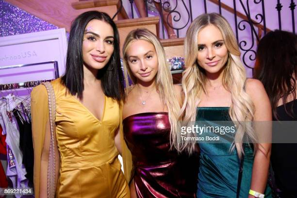 Ashley Iaconetti Corinne Olympios and Amanda Stanton at the boohoocom LA Popup Store Launch Party with Galore Magazine on November 1 2017 in Los...
