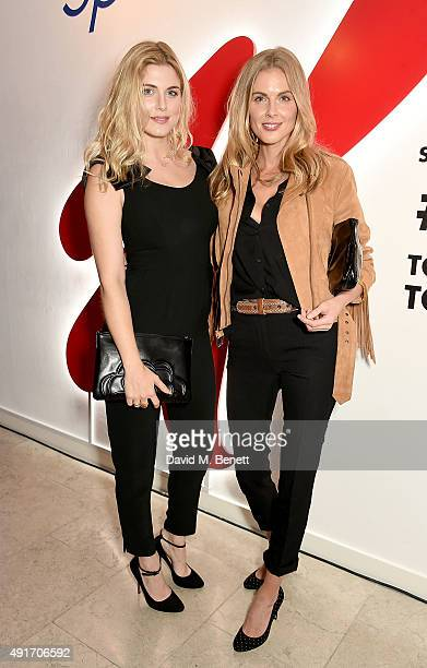 Ashley James and Donna Air attend the Special K Bring Colour Back launch at The Hospital Club on October 7 2015 in London England