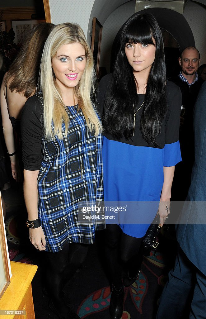 Ashley James (L) and Lilah Parsons attend the Tatler's Little Black Book party at Annabel's on November 5, 2013 in London, England.