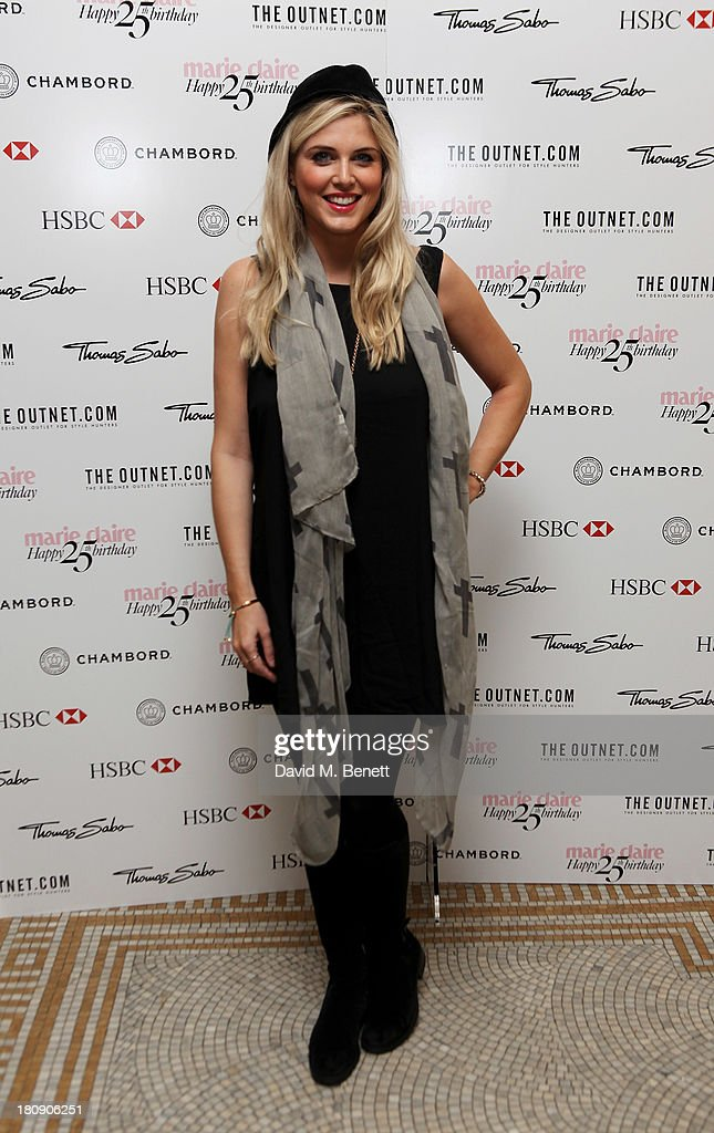 Ashley James arrives at the Marie Claire 25th birthday celebration featuring Icons of Our Time in association with The Outnet at the Cafe Royal Hotel on September 17, 2013 in London, England.