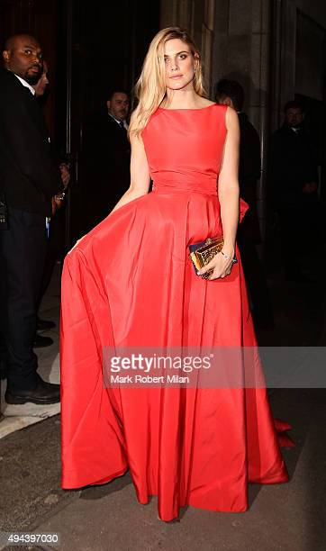 Ashley James attending the Spectre Premiere after party at the British Museum on October 26 2015 in London England