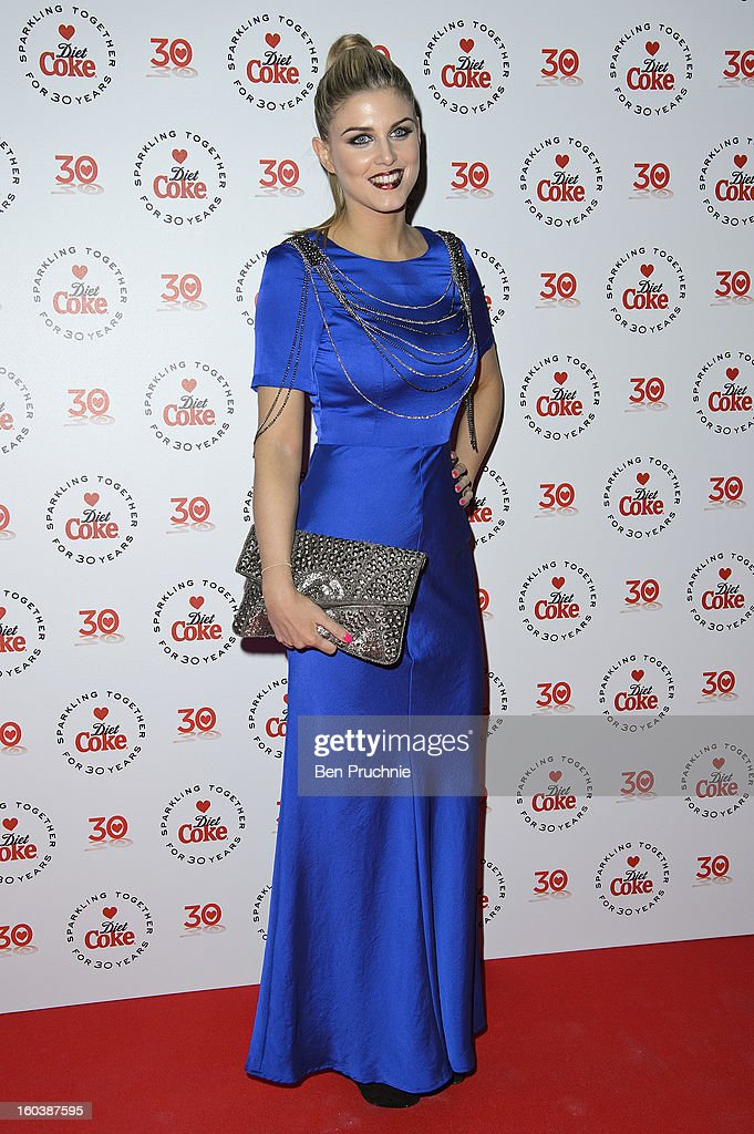 Ashley James attends a party hosted by Diet Coke at Sketch on January 30, 2013 in London, England.