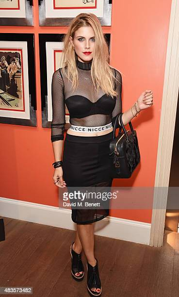 Ashley James attends a VIP screening of 'Absolutely Anything' at the Ham Yard Hotel on August 10 2015 in London England