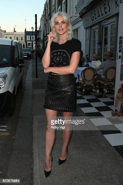 Ashley James attends egaliTee launch party at Geales Restaurant on July 25 2017 in London England