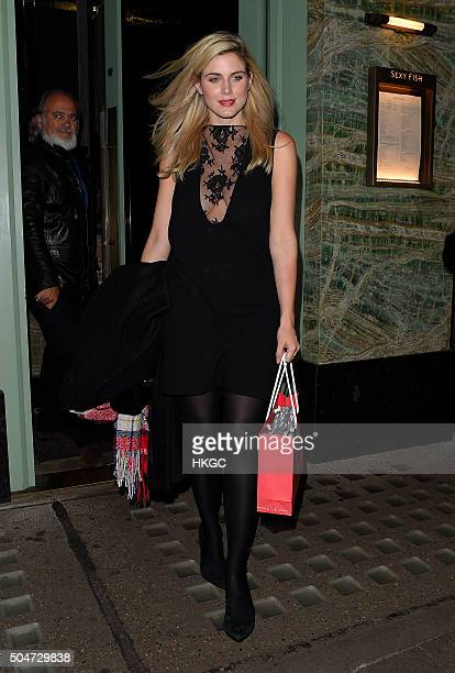 Ashley James attends Lisa Snowdon's new QVC jewellery collection launch at Sexy Fish restaurant in Mayfair on January 12 2016 in London England