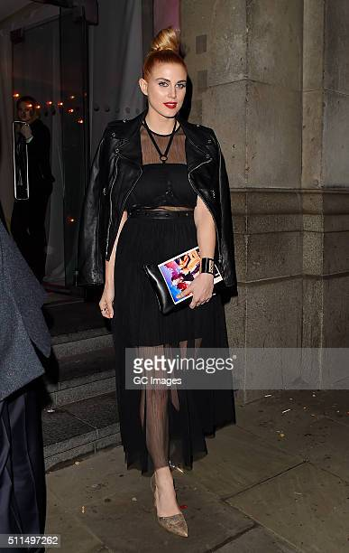 Ashley James attends Naked Heart Foundation Fabulous Fund Fair at Old Billingsgate Market on February 20 2016 in London England