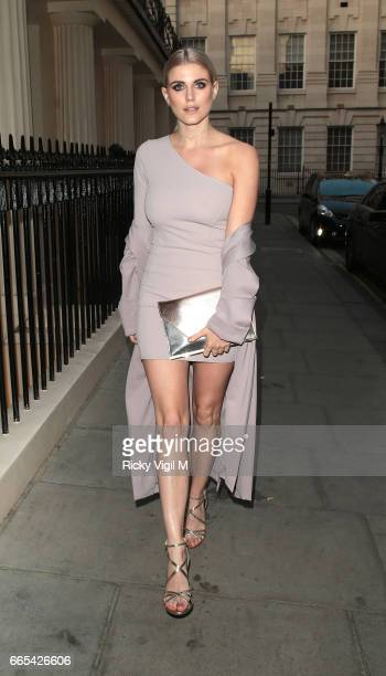 Ashley James attends New Look pool party at The Haymarket Hotel on April 6 2017 in London England