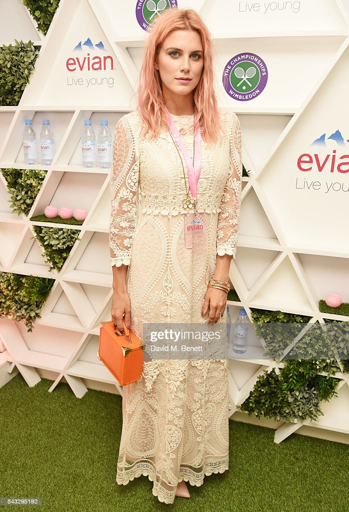 Ashley James attends the evian Live Young suite during Wimbledon 2016 at the All England Tennis and Croquet Club on June 27, 2016 in London, England.