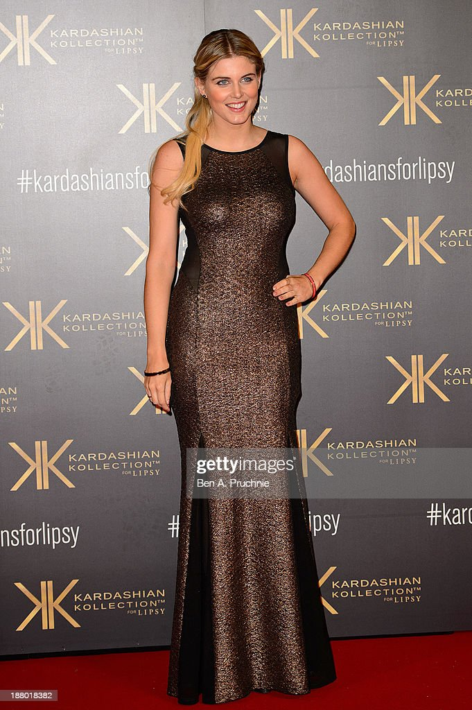 Ashley James attends the launch party for the Kardashian Kollection for Lipsy at Natural History Museum on November 14, 2013 in London, England.