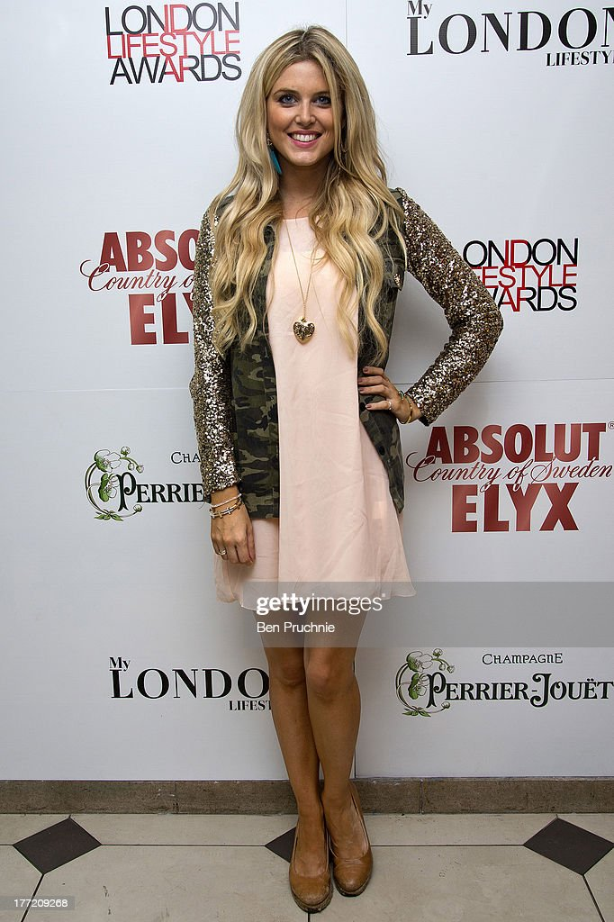 Ashley James attends the London Lifestyle Awards shortlist reception at Retro Feasts on August 22 2013 in London England