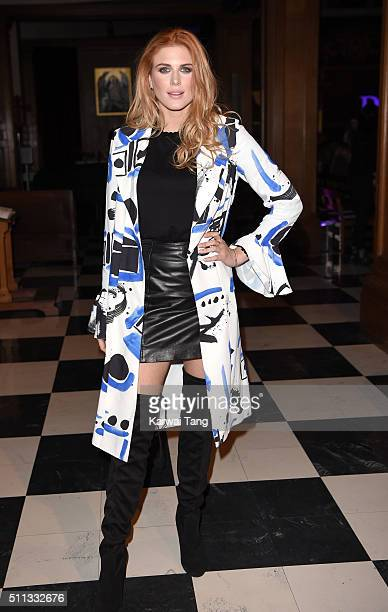 Ashley James attends the PPQ show during London Fashion Week Autumn/Winter 2016/17 at on February 19 2016 in London England
