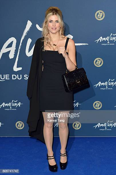 Ashley James attends the Red Carpet arrivals for Cirque Du Soleil Amaluna at Royal Albert Hall on January 19 2016 in London England