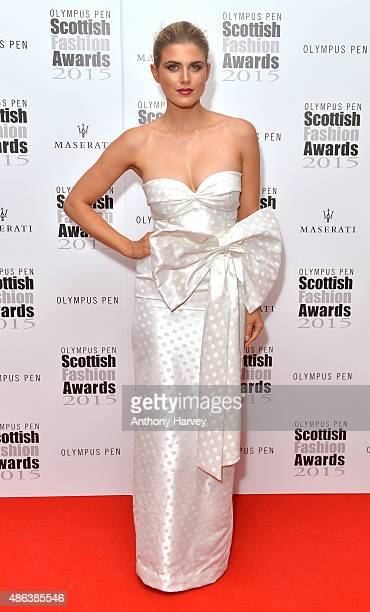 Ashley James attends the Scottish Fashion Awards at Corinthia Hotel London on September 3 2015 in London England