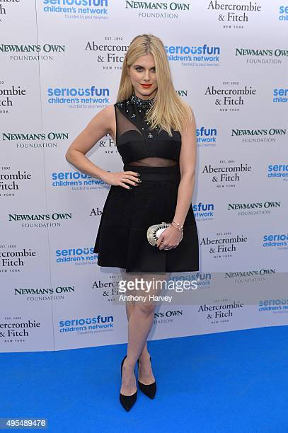 Ashley James attends the SeriousFun Children's Network London Gala at The Roundhouse on November 3 2015 in London England