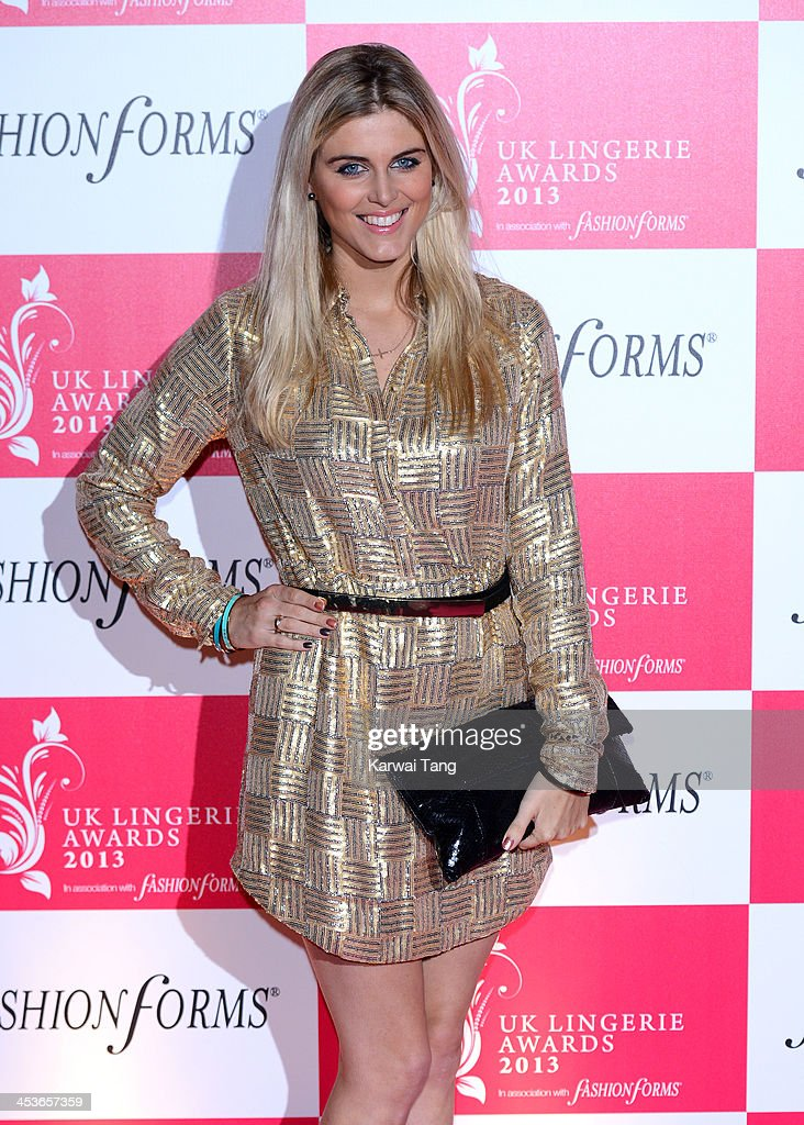 Ashley James attends the UK Lingerie Awards held at the Freemasons Hall on December 4, 2013 in London, England.