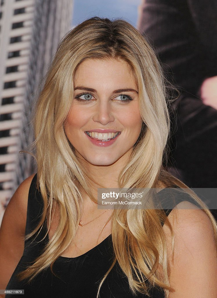 Ashley James attends the UK premiere of 'Anchorman 2: The Legend Continues' at Vue West End on December 11, 2013 in London, England.