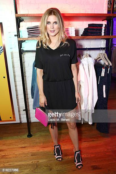 Ashley James attends the UNIQLO 311 Oxford St store relaunch on March 17 2016 in London England