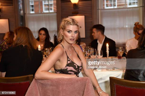 Ashley James attends the VIP dinner to celebrate Urban Decay's arrival at Selfridges London on April 24 2017 in London England